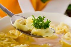 Tortellini in brodo Fotografie Stock