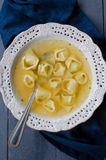 Tortellini in Brodo Stock Image