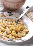 Tortellini in broth Stock Photo