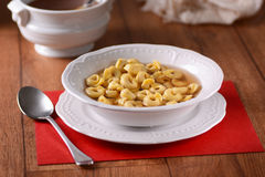 Tortellini in broth Royalty Free Stock Images