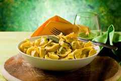 Tortellini with Butter and Sage Stock Images