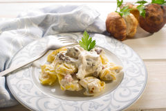 Tortellini with cream sauce Royalty Free Stock Photos