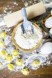 Tortellini del formaggio quattro Immagini Stock Libere da Diritti