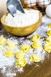 Tortellini del formaggio quattro Immagine Stock