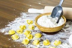Tortellini del formaggio quattro Fotografia Stock Libera da Diritti