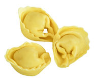 Tortellini isolated on white. Royalty Free Stock Images