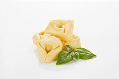 Tortellini isolated on white. Royalty Free Stock Photos