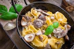 Tortellini italiano de las pastas Foto de archivo libre de regalías