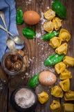 Tortellini italien de pâtes Photographie stock libre de droits
