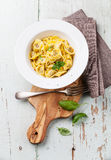 Tortellini with meat Stock Photo