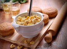 Tortellini met kaas Royalty-vrije Stock Afbeelding