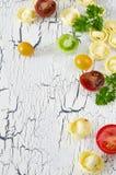Tortellini och grönsaker Fotografering för Bildbyråer