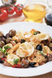 Tortellini and olive salad Royalty Free Stock Photos