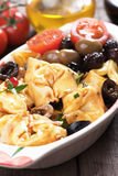 Tortellini and olive salad Royalty Free Stock Images