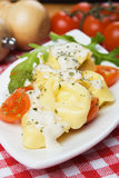 Tortellini pasta in cream sauce Stock Images