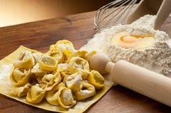 Tortellini pasta homemade stock photos