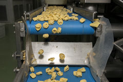 Tortellini Pasta production line Royalty Free Stock Photos