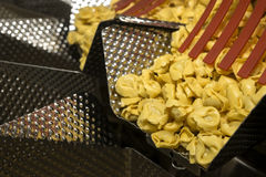 Tortellini Pasta production line Stock Photo