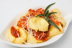 Tortellini pasta with tomato sauce Stock Image