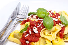 Tortellini on a plate Stock Photography