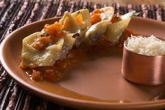 Tortellini with pomodoro sauce. Gourmet food Stock Photography