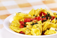 Tortellini primavera Stock Photo