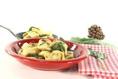 Tortellini with sage Royalty Free Stock Photos