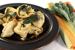 Tortellini with sage butter Royalty Free Stock Image