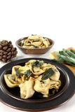 Tortellini with sage butter Royalty Free Stock Photos