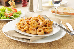 Tortellini with salad Royalty Free Stock Photo