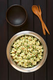 Tortellini Salad with Peas and Bacon Stock Images