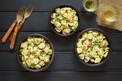 Tortellini Salad with Peas and Bacon Royalty Free Stock Image
