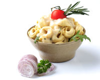 Tortellini and sauce Stock Photography