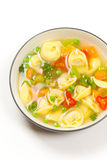 Tortellini soup. Macro Royalty Free Stock Photos