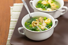 Tortellini Soup Royalty Free Stock Image