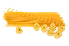 Tortellini and Spaghetti Pasta Stock Photography