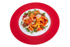 Tortellini with tomato sauce Royalty Free Stock Photo