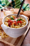 Tortellini with tomato sauce Royalty Free Stock Images