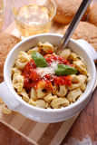 Tortellini with tomato sauce Stock Images