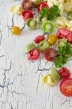Tortellini und Gemüse Lizenzfreie Stockfotos