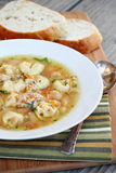 Tortellini and White Bean Soup Stock Photography