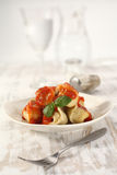 Tortellini on white plate Royalty Free Stock Photography
