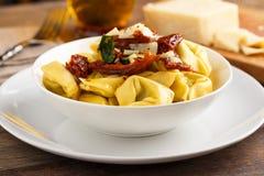 Tortelloni aglio e olio Zdjęcie Royalty Free