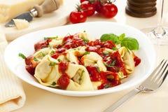 Tortelloni pasta dish Stock Images