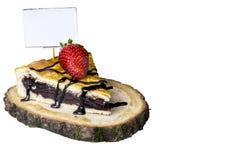 Torten des Kuchens mit Erdbeeren Stockbild