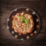 Tortentraubenäpfel Köstlicher Nachtisch stockbilder