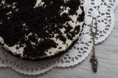 Torteundklassische Gabel Royaltyfri Fotografi
