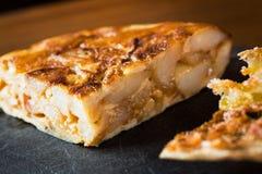 Tortiglia de patatas Fotografia Stock