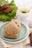 Tortiglii con carne o vegetabls Immagini Stock