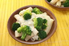 Tortiglione with broccoli Stock Photo